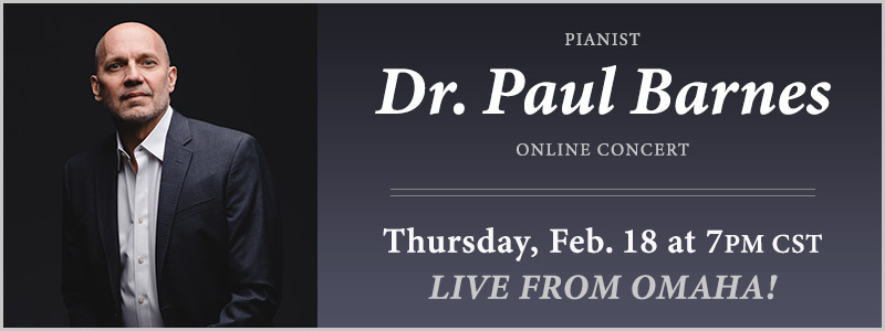 Pianist Dr. Paul Barnes LIVE from Schmitt Music Omaha
