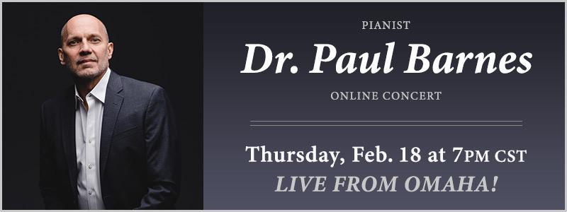 Pianist Dr. Paul Barnes LIVE from Schmitt Music Omaha