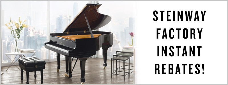 Steinway Factory Instant Rebates & Special Financing