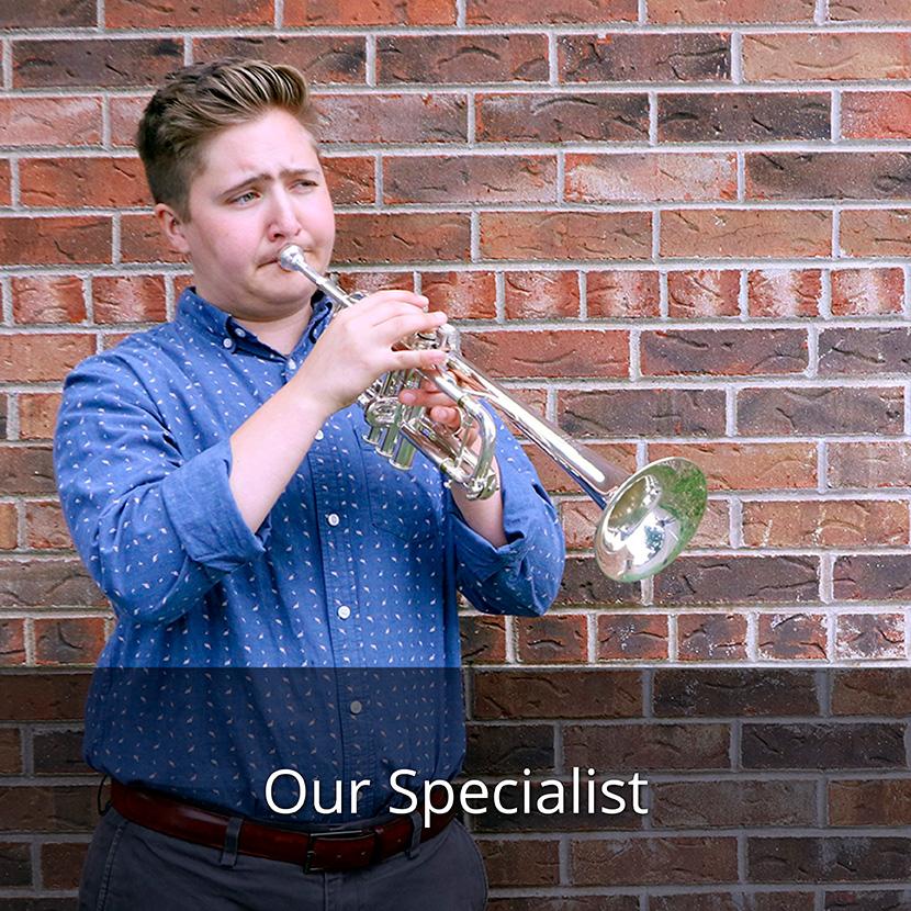 Beckett Shuholm, Trumpet Shop Manager & Specialist