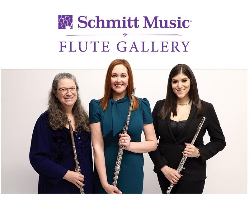 Schmitt Music Flute Specialsits: Katie Lowry, Dr. Rachel Haug Root, Bianca Najera