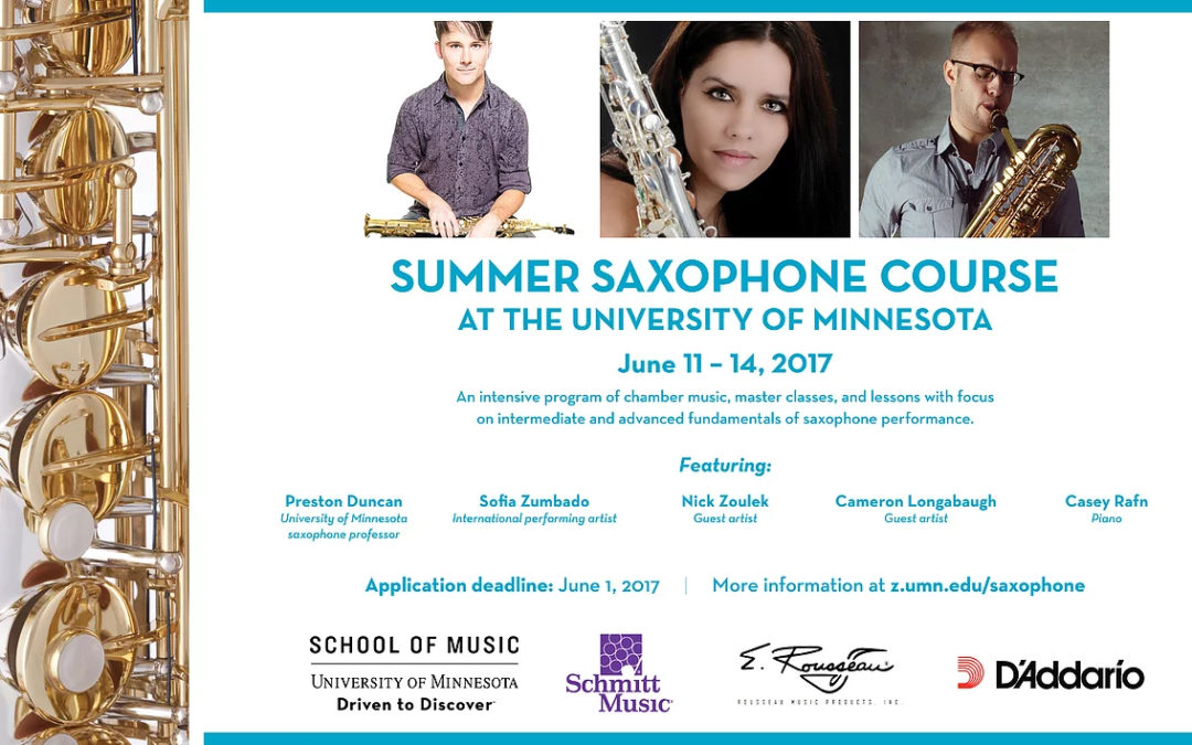University of Minnesota Summer Saxophone Course!